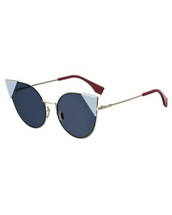 Fendi Lei Monochromatic Cat-Eye Sunglasses