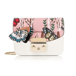 Furla Petalo Metropolis Mini Crossbody Bag with Detachable Butterfly Flap