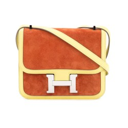Hermès Vintage Mini Constance Suede Shoulder Bag