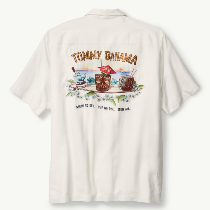 Tommy Bahama Original Fit Shake, Stir, & Drink No Evil Mens Camp Shirt
