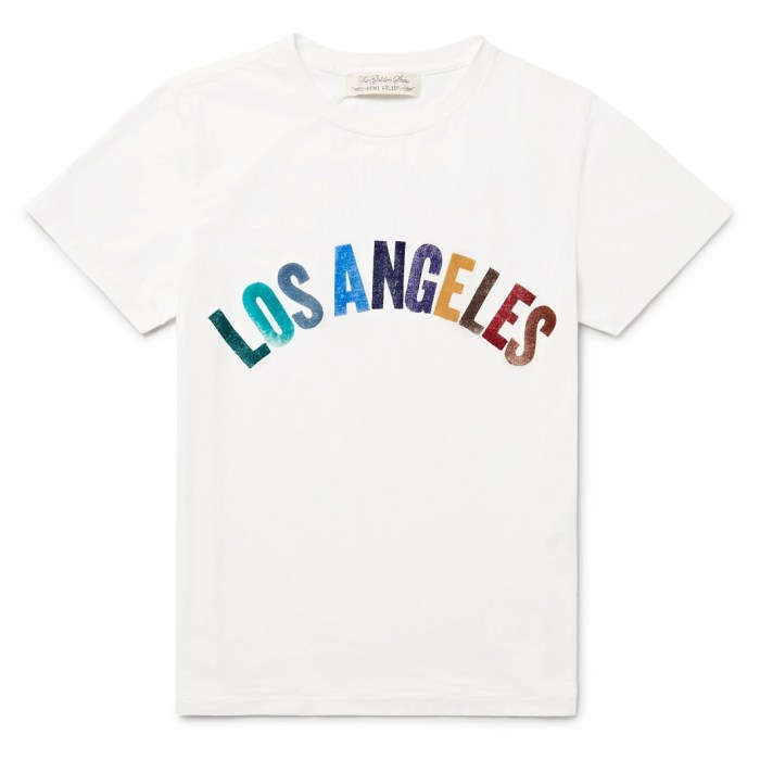 LOS ANGELES Appliquéd Mens Cotton-Jersey T-Shirt by Remi Relief