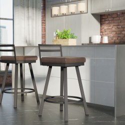 Penton 26.75″ Swivel Low Back Bar Stool by Brayden Studio