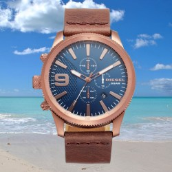DIESEL Chronograph 45mm Mens Leather Strap Watch
