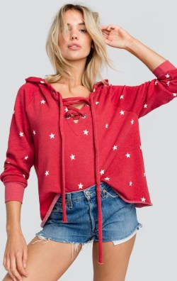 Wildfox Football Star Fireworks Hutton Sweater