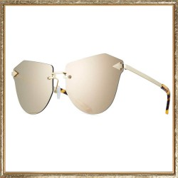Karen Walker Tortoise Dancer Rimless Cat-Eye Sunglasses