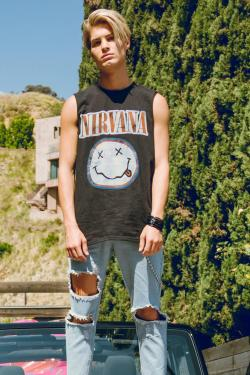Nirvana Band Mens Sleeveless T-Shirt