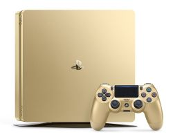 PlayStation 4 Slim 1TB Gold Video Game Console Limited Edition