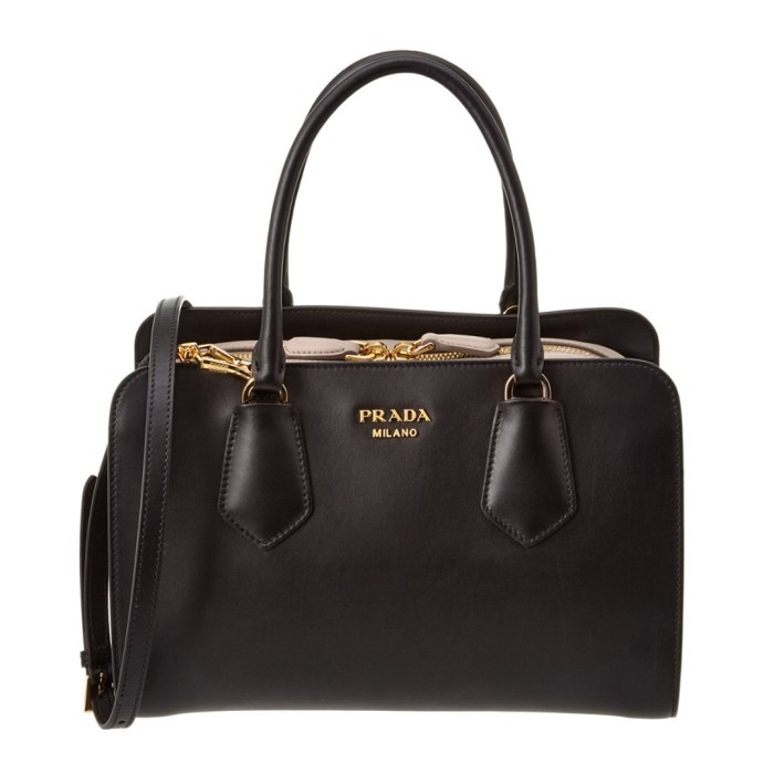 Prada City Calf Leather Inside Shopper Tote Bag