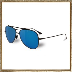 Vuarnet Swing Titanium Pilot Black & Blue Polarized Sunglasses