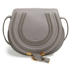 CHLOÉ Mini Marcie' Cashmere Grey Leather Crossbody Bag