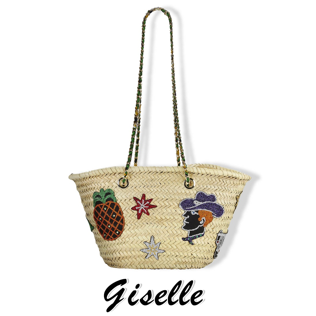 Giselle Ginerva Patchwork Natural Tote Bag