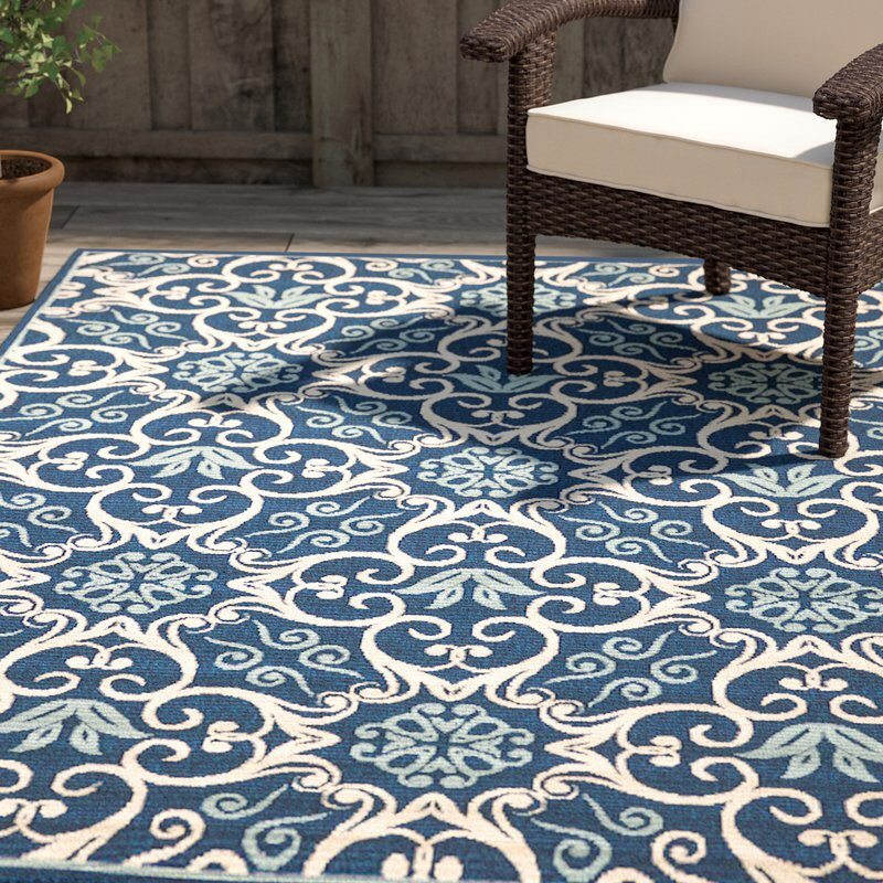 Carleton Navy Indoor/Outdoor Area Rug By Alcott Hill