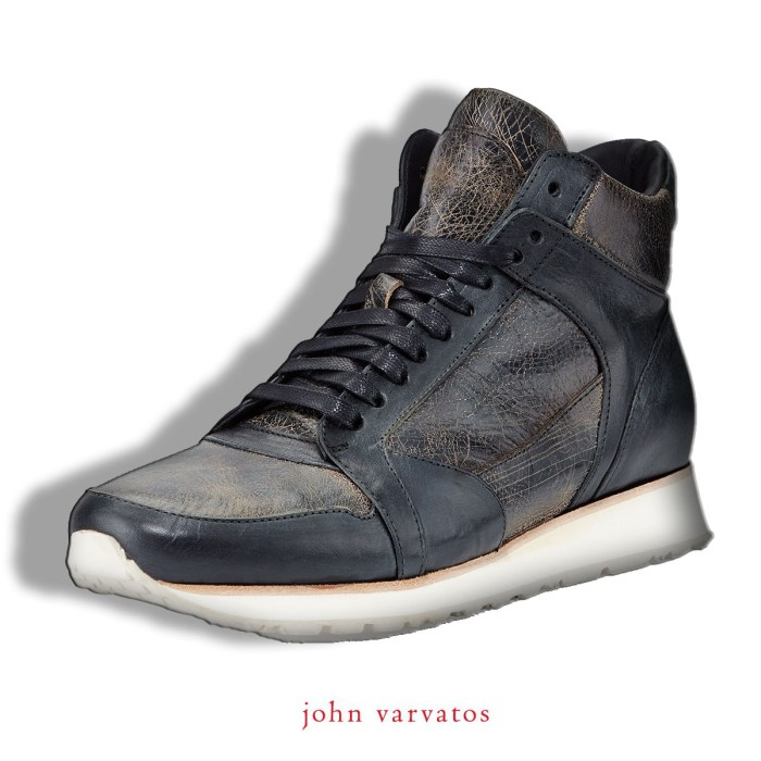 John Varvatos 315 Mid Leather Mens Trainer Sneakers