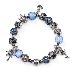 PANDORA Sparkling Summer Moments Collection Charm Bracelet