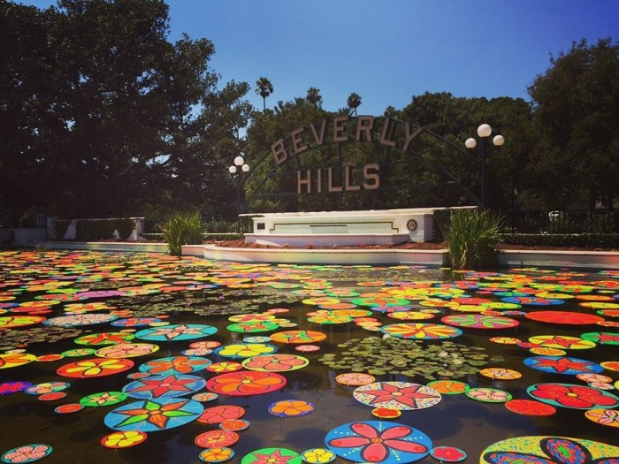 Beverly Hills Sign Pond x Portraits of Hope Project