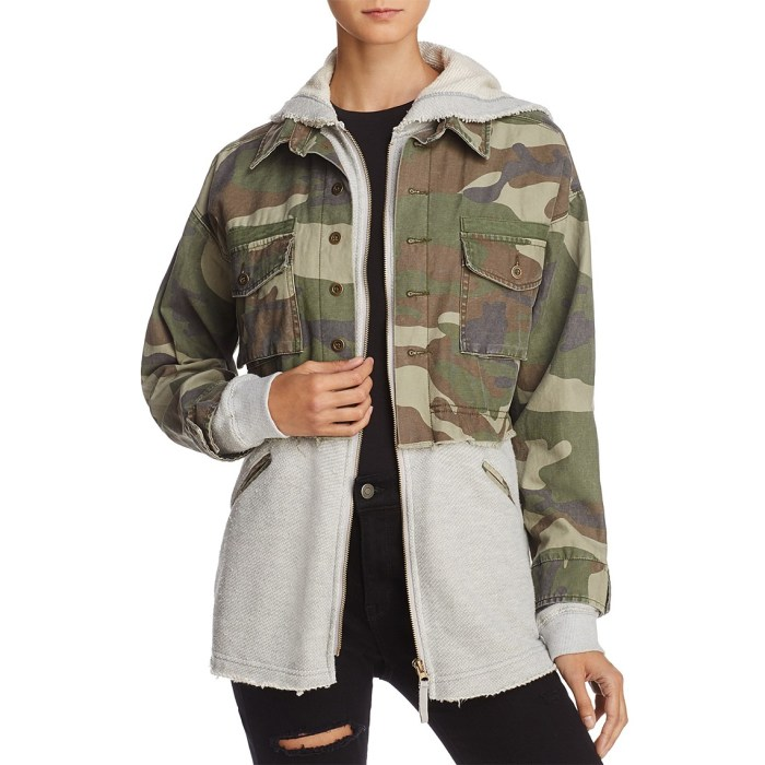 Vintage Havana Layered-Look Camo Jacket