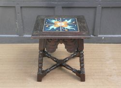 1920s Spanish Mission Revival Tudor Catalina Island California Tile Table