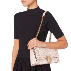 Balmain Western-Studded Flap Shoulder Bag