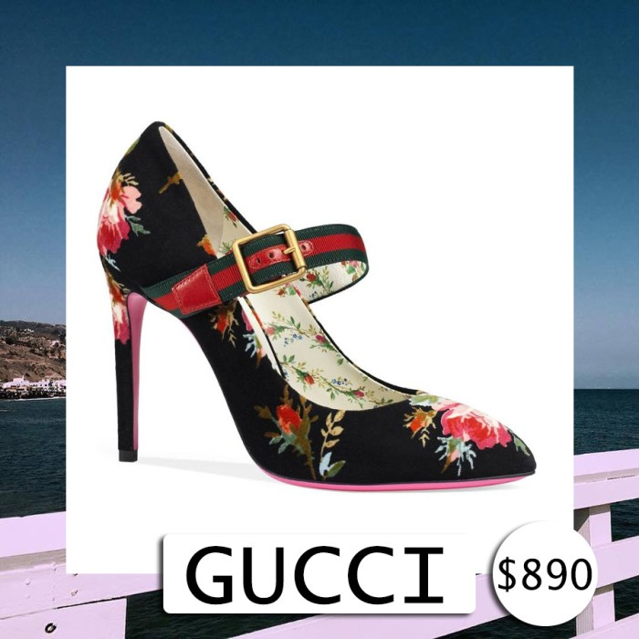 GUCCI Sylvie Pointy Toe Mary Jane Pump Shoes