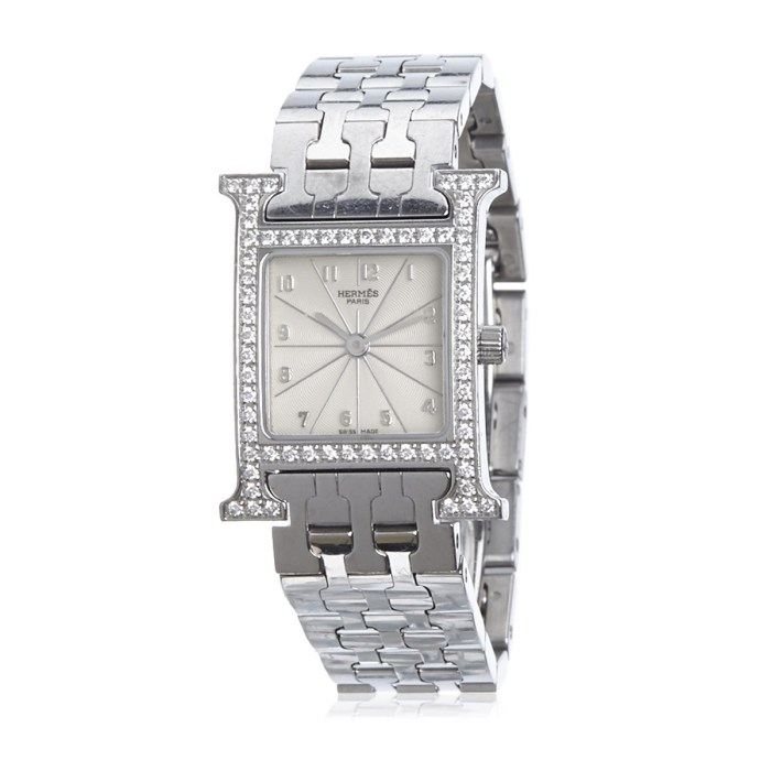 Hermes Diamond Heure H Pm Pre-Owned Watch