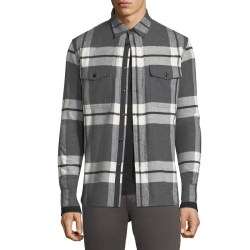 Rag & Bone Jack Brushed Flannel Shirt Jacket