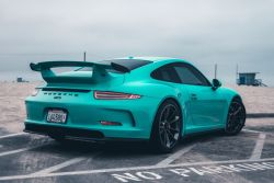2014 Porsche 911 GT3 Mint Green Sports Car