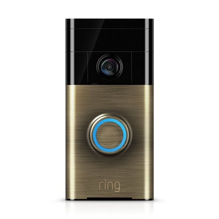 Ring Wi-Fi Enabled Antique Brass Video Doorbell