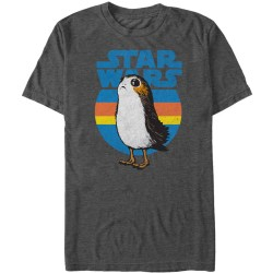 Star Wars The Last Jedi Retro Porg Mens Graphic T-Shirt