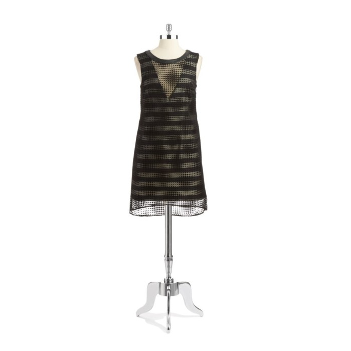 A.B.S. By Allen Schwartz Polka Dot Overlay Shift Dress