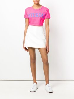 Alberta Ferretti Saturday cropped T-shirt