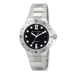 BVLGARI 41mm Diagono Scuba Stainless Steel Womens Watch