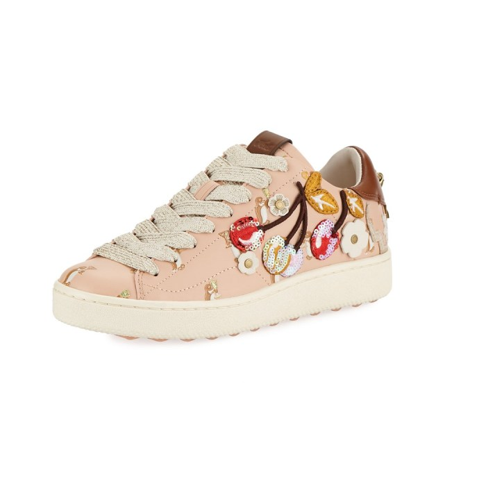 Coach C101 Cherries Patches Platform Sneakers