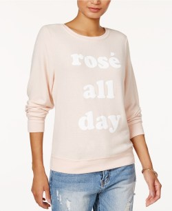 Dream Scene Cotton Rosé All Day Graphic Sweatshirt