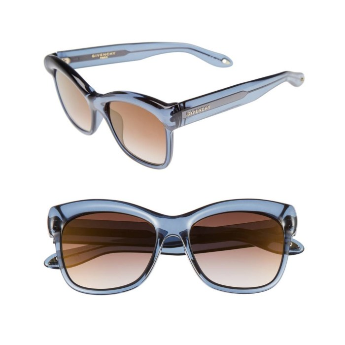 GIVENCHY 55mm Retro Sunglasses