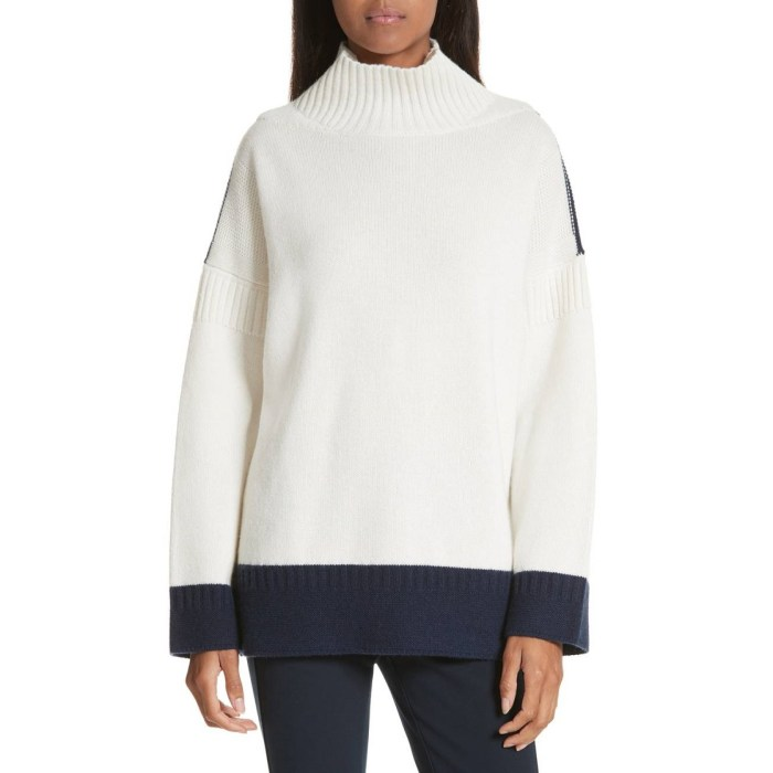 RAG & BONE Aubree Funnel Neck Cashmere Sweater