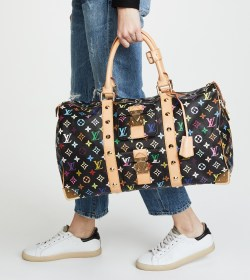 Louis Vuitton Vintage Black Multi Keepall 45 Preowned Bag
