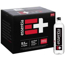 Essentia Water – Ionized Alkaline Bottled Water – 12, 1-Liter Bottles