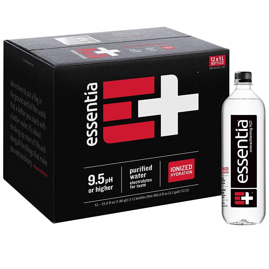 Essentia Water - Ionized Alkaline Bottled Water - 12, 1-Liter Bottles