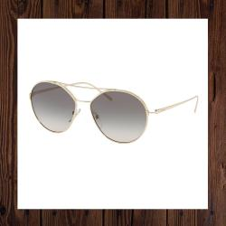 Prada Round Metal Womens Aviator Sunglasses
