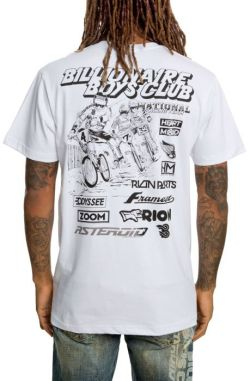 Billionaire Boys Club White Flags Mens T-Shirt