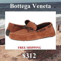 Bottega Veneta Patera Suede Mens Driver Shoes