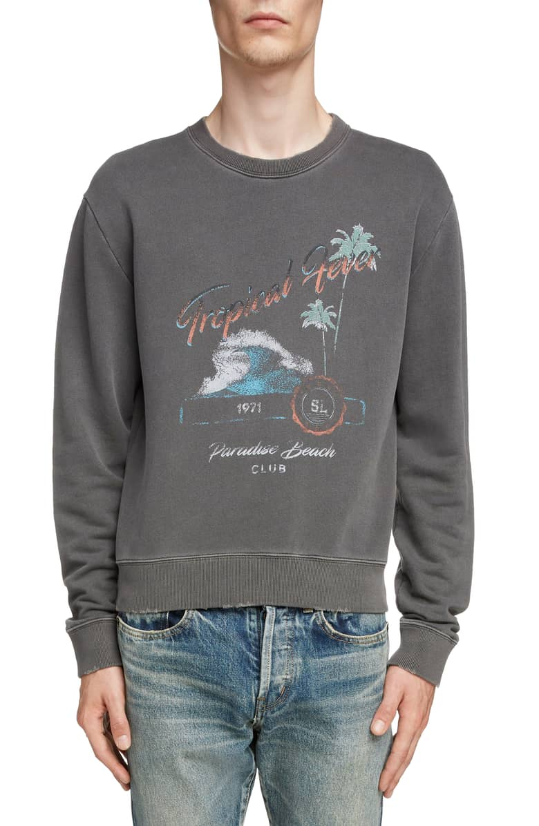 SAINT LAURENT Tropical Sweatshirt