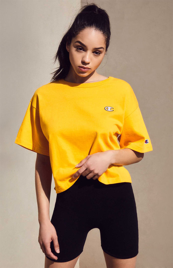 Champion Embroidered Cropped Womens T-Shirt from PacSun