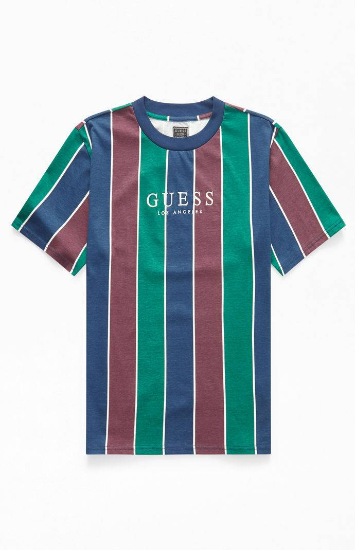 Guess Surfer Stripe T-Shirt from PacSun