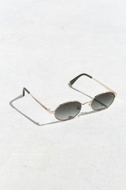 UO Small Metal Oval Sunglasses from Urban Outfitters