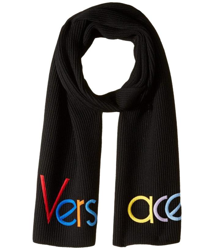 e8930a98f5a Versace Half Logo Mens Knit Scarf from Zappos Luxury