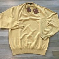 Loro Piana Yellow Baby Cashmere sweater Size 54 or XL Made in Italy