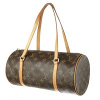 LOUIS VUITTON Brown Monogram Canvas Papillon 30 Bag - Preowned