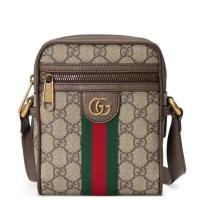 Gucci Messenger Ophidia Small Brown Gg Supreme Canvas Shoulder Bag