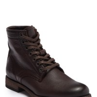 Frye Tyler Leather Lace Up Womens Boots